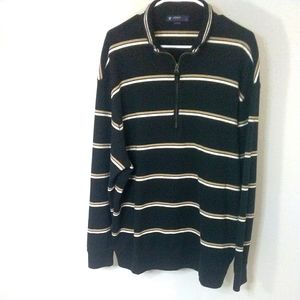 Cremieux Mens sweater pullover with zip 2XL